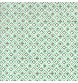 AE211 Papier de coton avec motif de karo