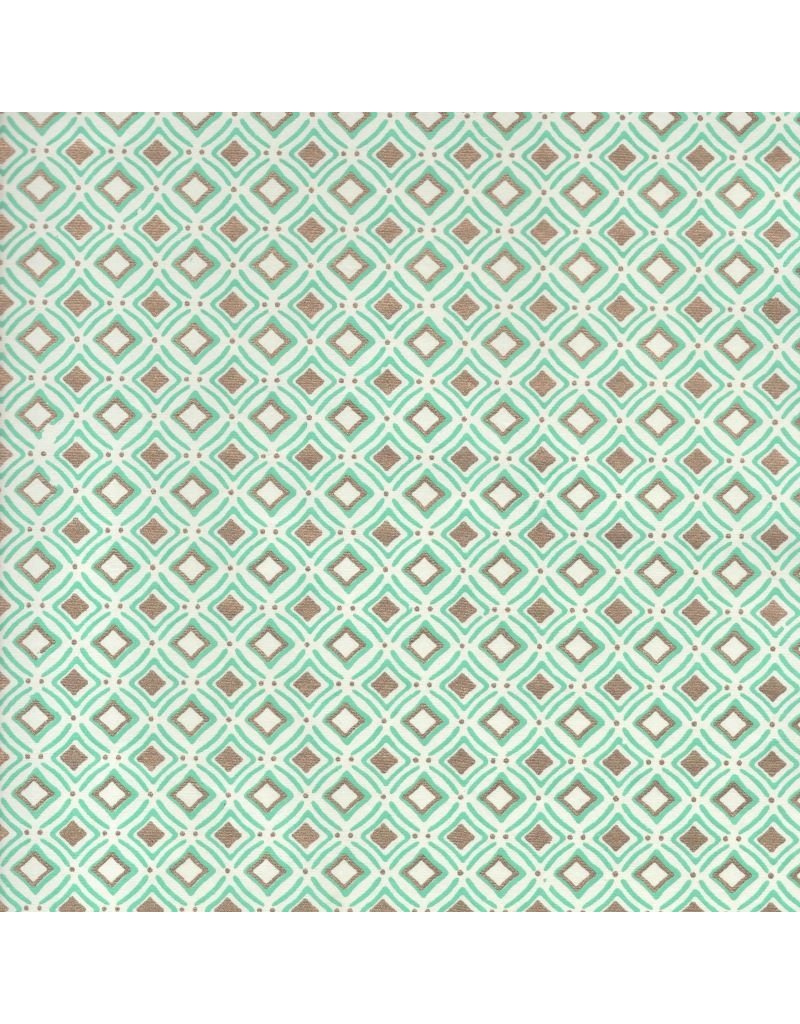 Cotton paper with square pattern
