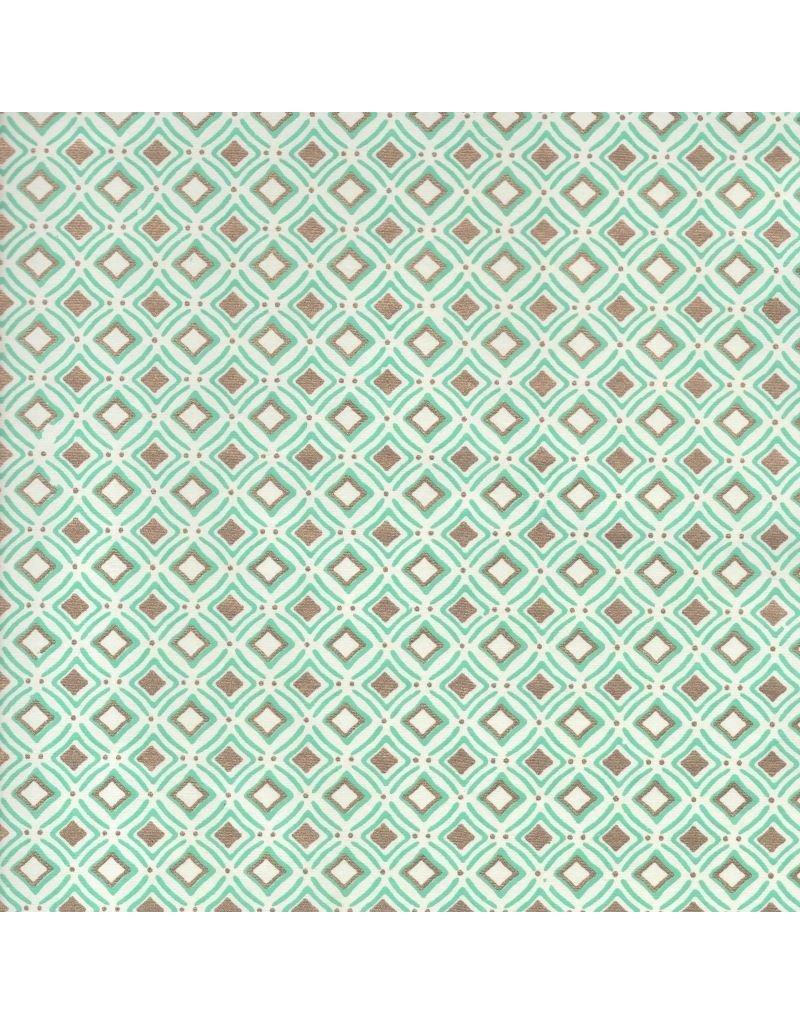 Katoenpapier met ruitjespatroon