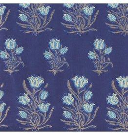 AE210 Baumwollpapier Blumenmuster