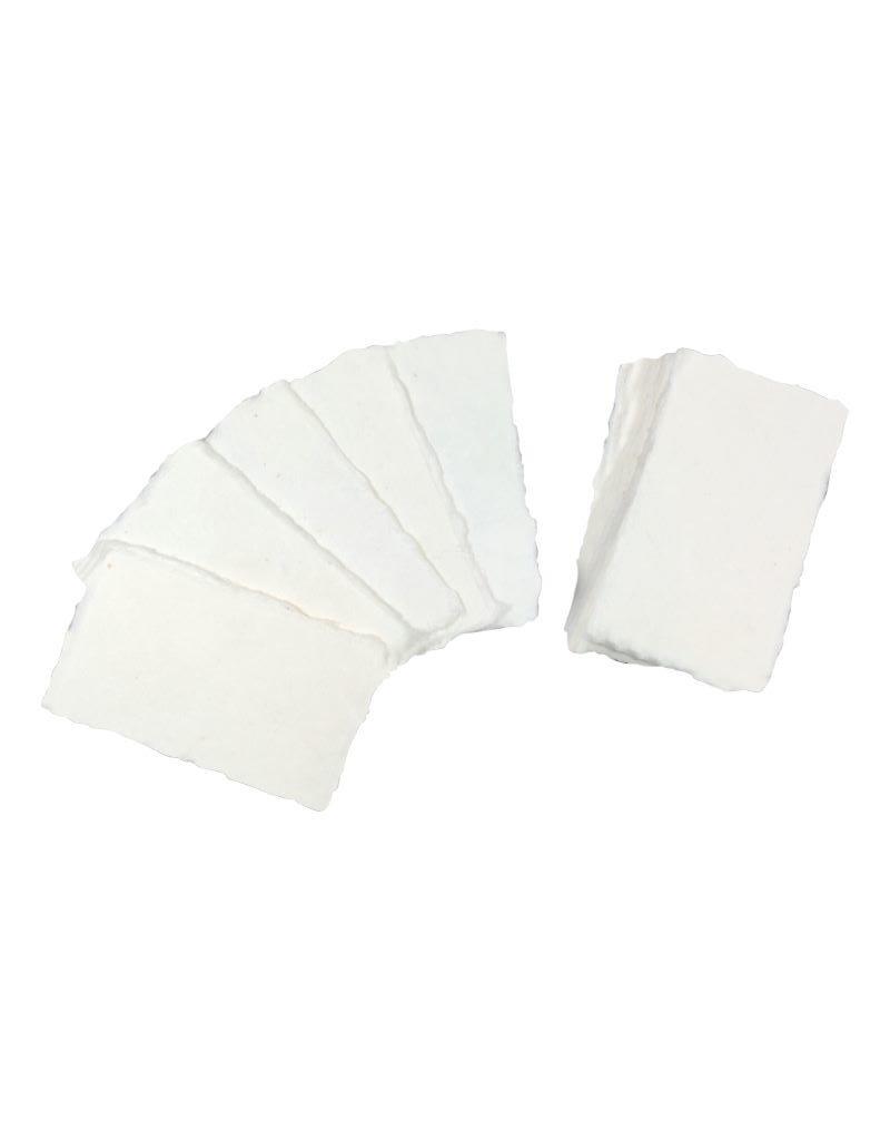 Lot de 50 cartes de papier mulberry 9x5cm