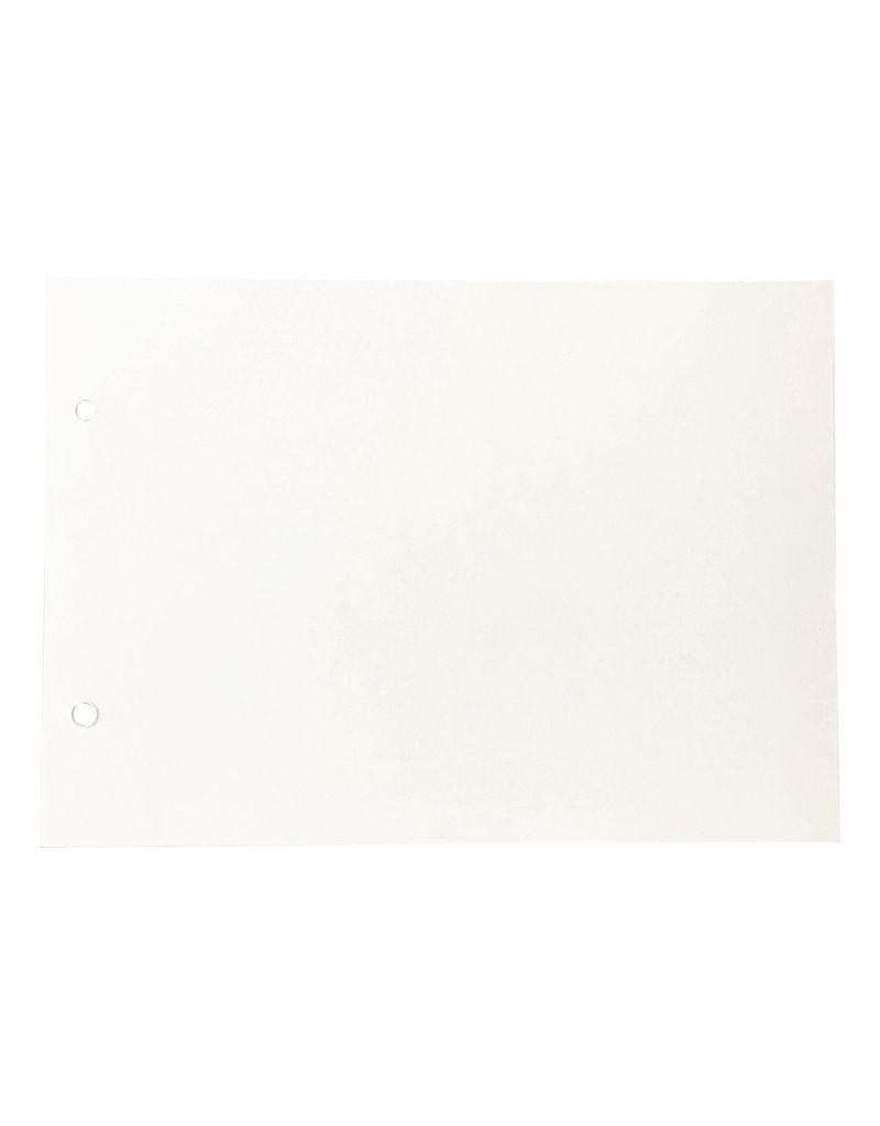 Blanco inhoudsbladen 15x21cm