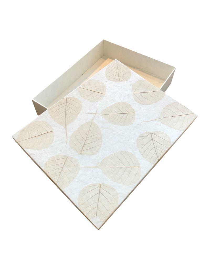 Boîte de mémoire avec  feuilles Bodhi