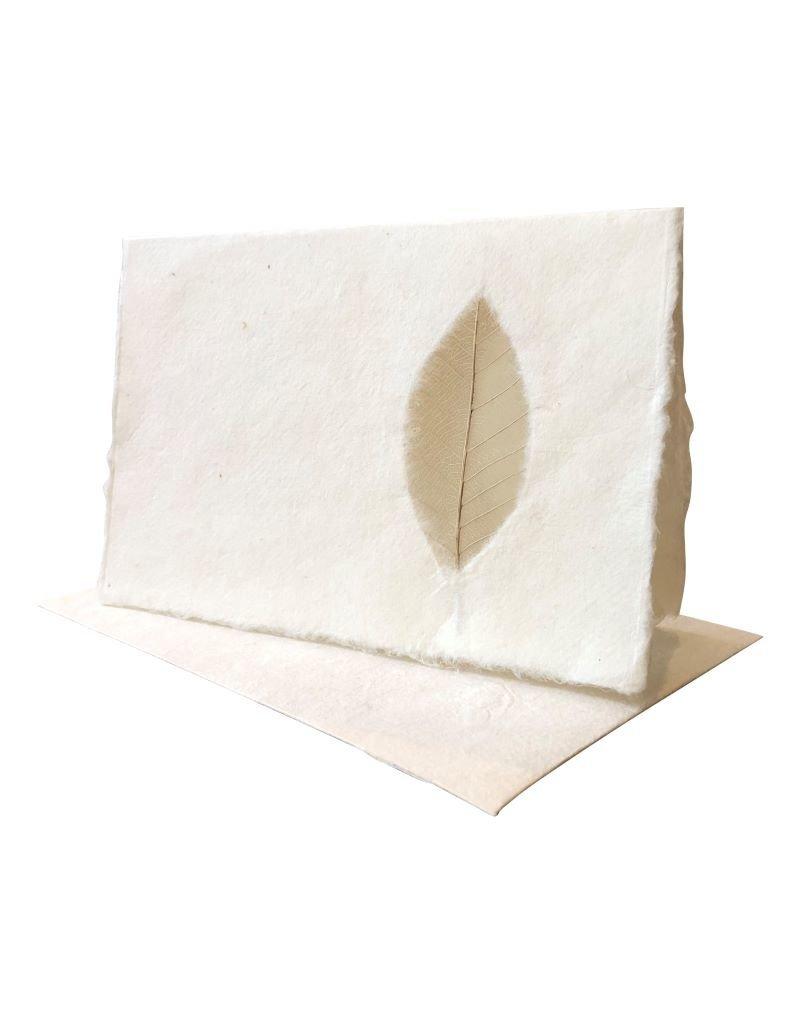 Set van 10 dubbele kaarten  met nerfblad, met enveloppen