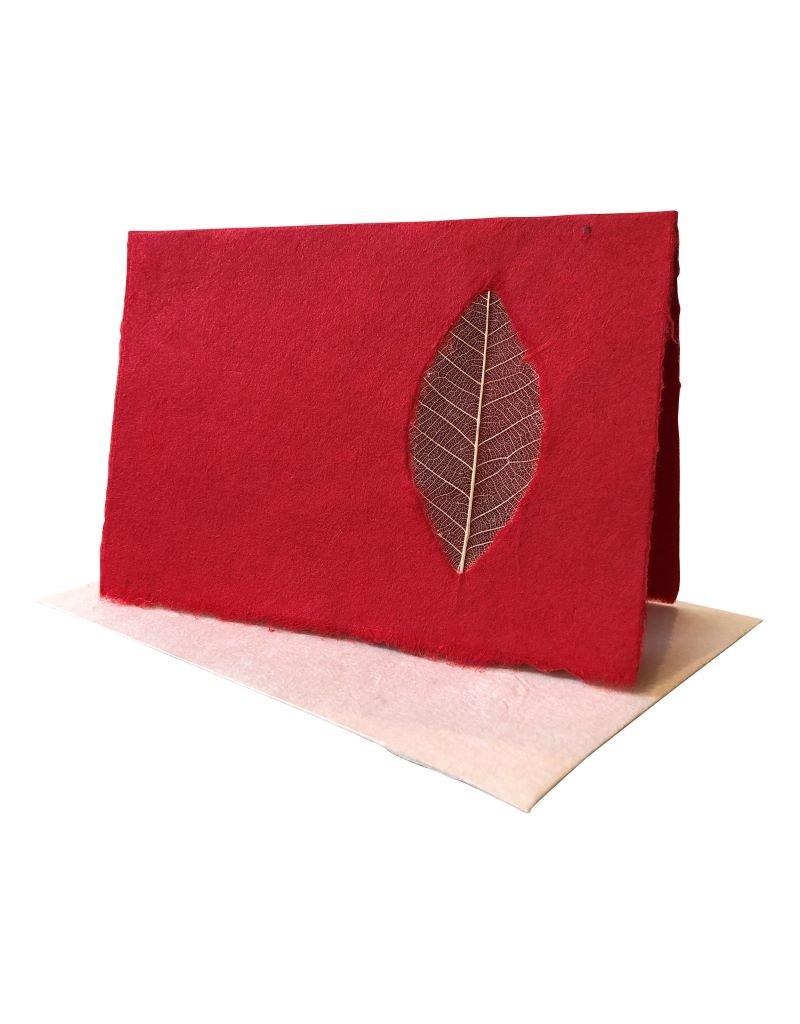 Dubbele kaart met nerfblad, set van 10