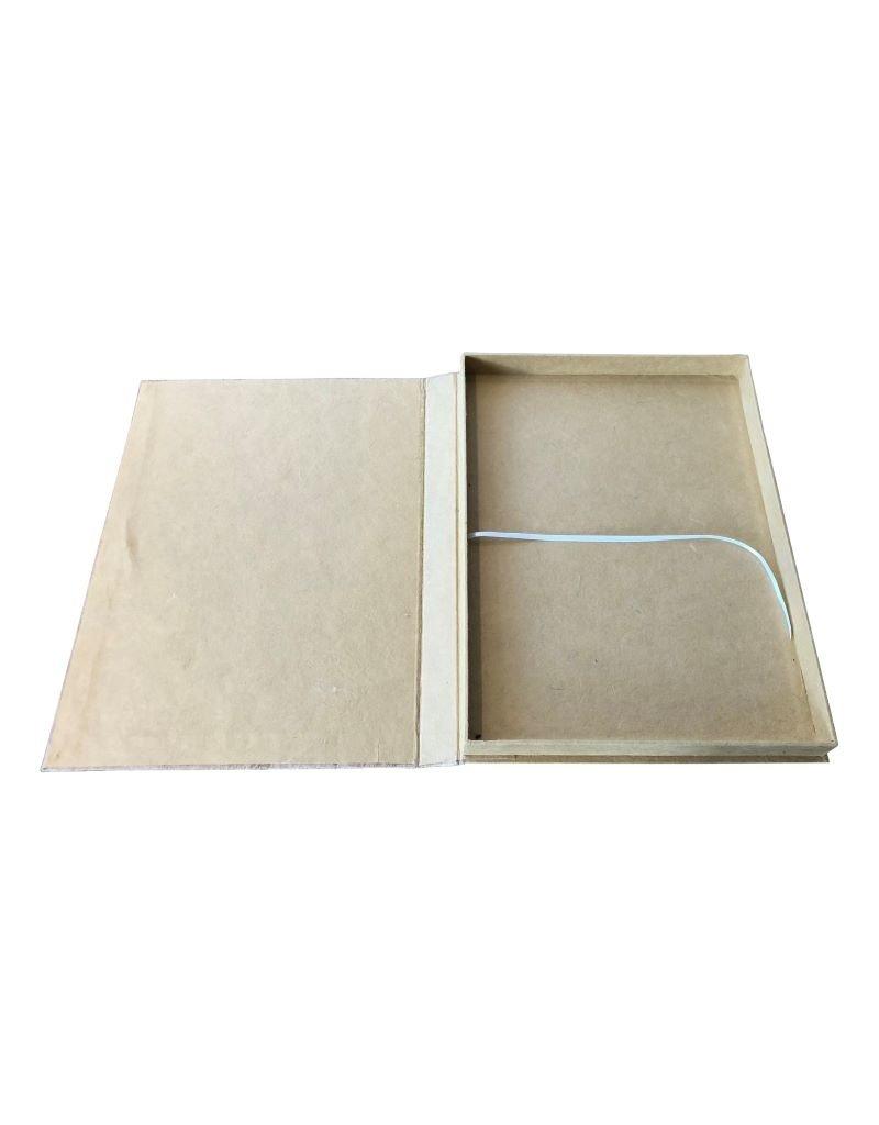 Keepsake box, closure string and button