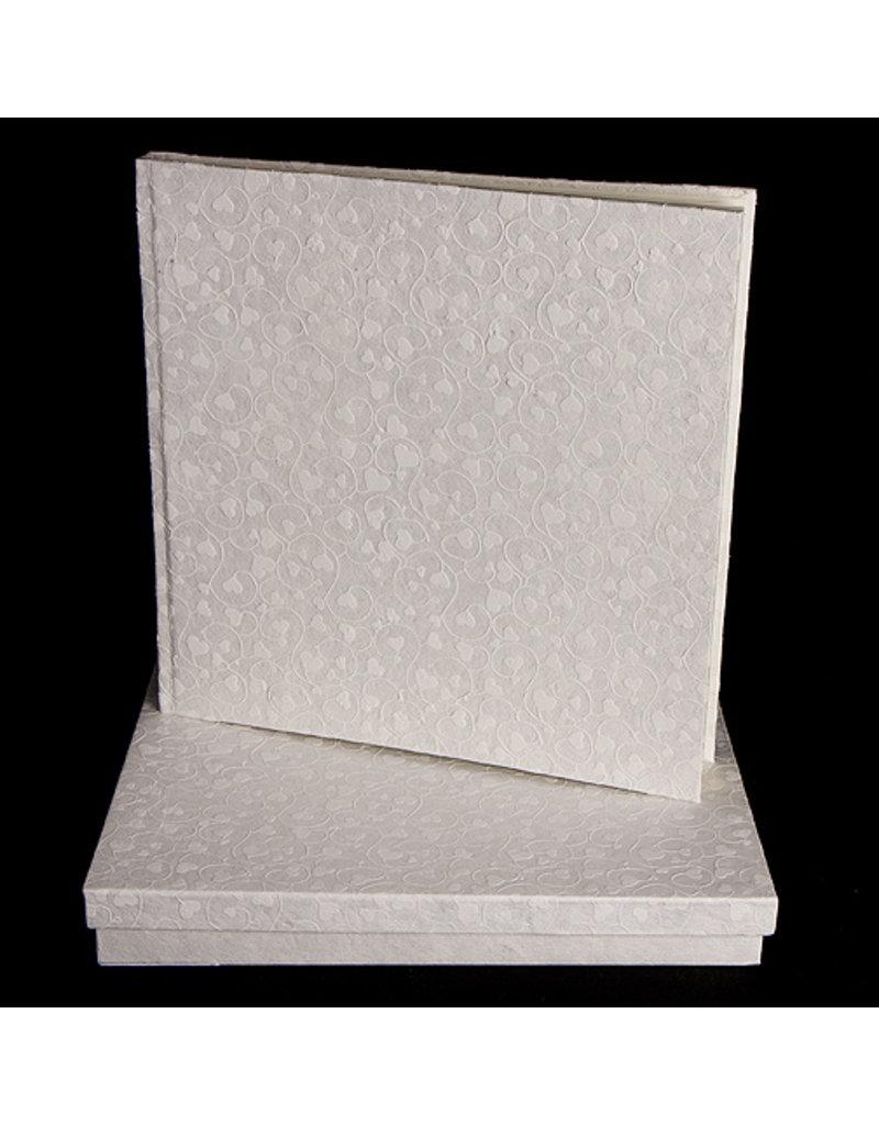 Gastenboek harten in doos -