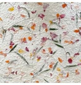 TH072 Mulberry papier met bloemen-mix