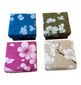 NE517 Set of 4 boxes, flowerprint