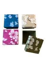 Set of 4 boxes, flowerprint