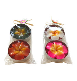 TH092 set of 2 tea lights with flower XL