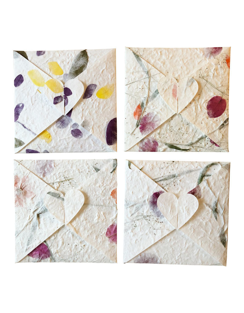 Set of 4 gift envelopes