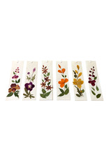 Set of 12 bookmarks with real flowers