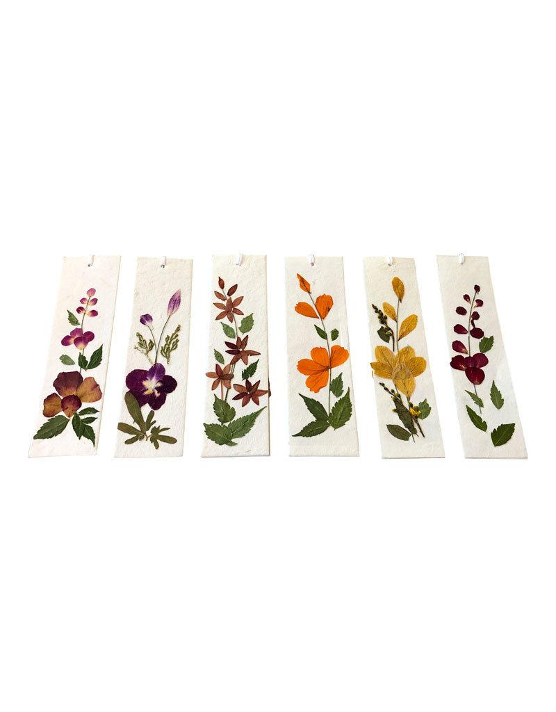 Set 12 boekenleggers/ bloem