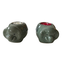 . TH055 Éléphant en porcelaine avec bougie