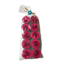 TH093 10 bougies pour chauffe-plats coeur