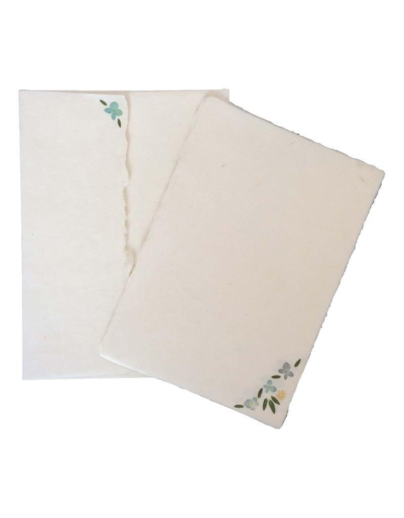 Set 5 kaarten/enveloppen bloem