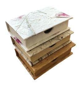 TH193  Visitenkaartjes doosje van mulberry papier