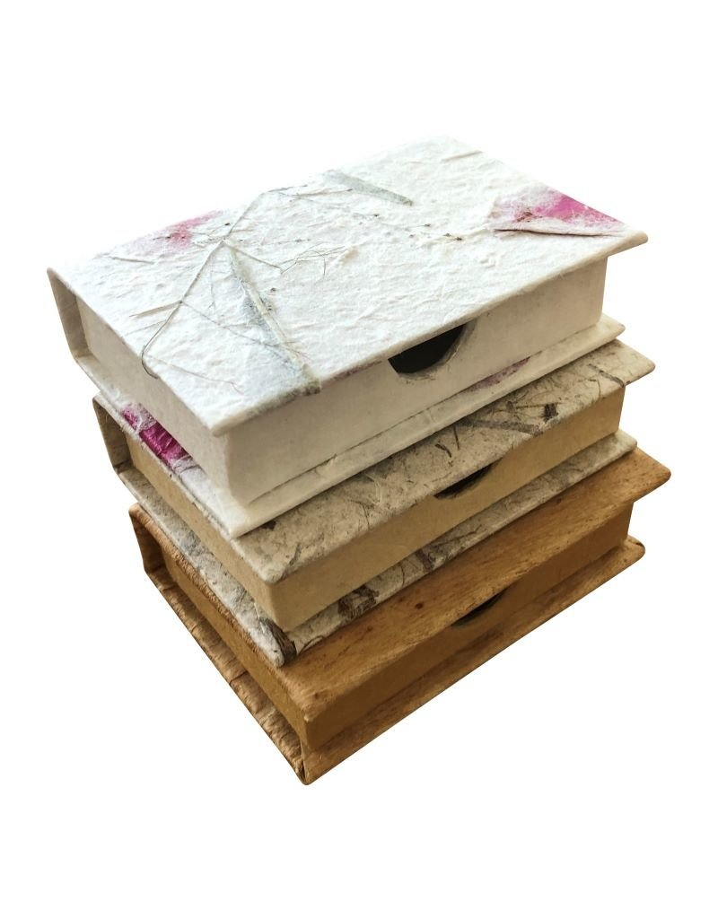 boîte de carte de visite  de papier mûrier