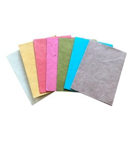 A6007 Set von 10 Karten aus lokta Papier