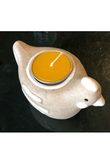 Tier aus Porzellan/Kerze.