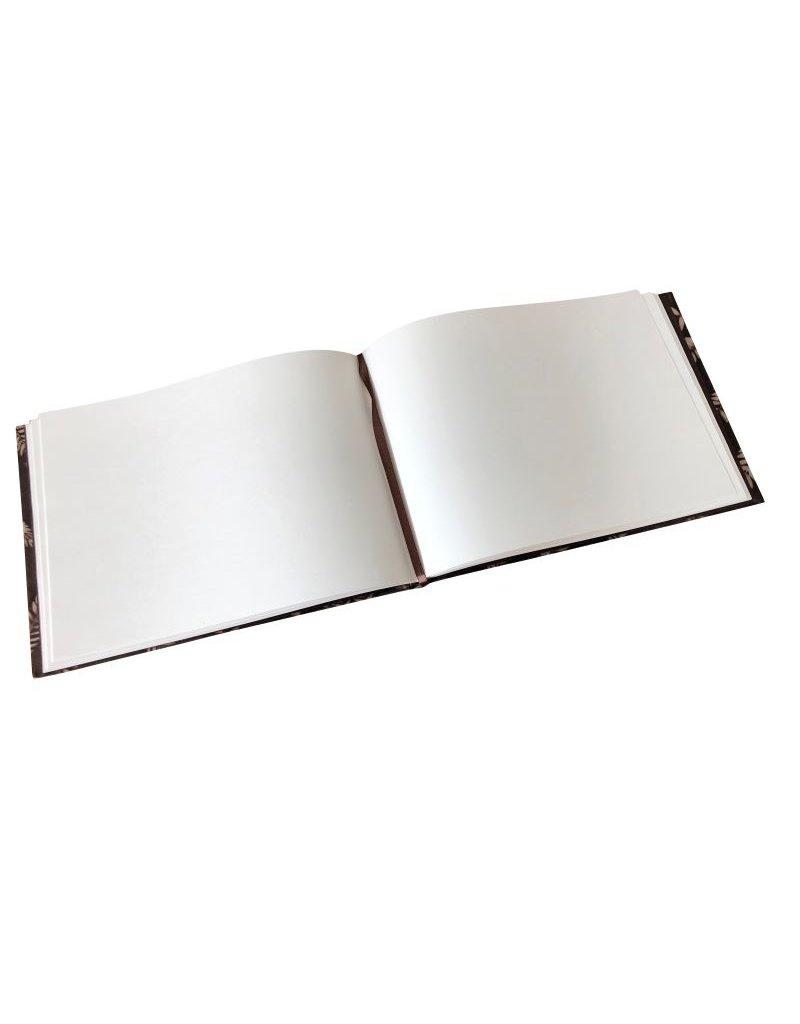 Gastenboek amala leaf print op lokta papier
