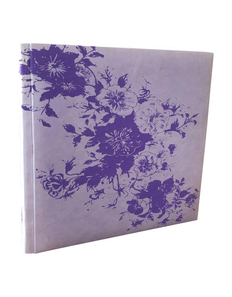 Album handbedruckten Veilchen