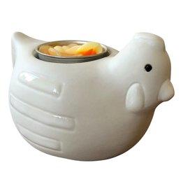 TH044 Huhn aus Porzellan/Kerze.