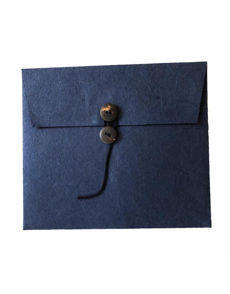 Set van 6 enveloppen, met knoopsluiting