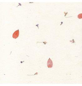 A4D93 Gampi Papier mit Blumen, 90 Gr.