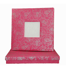 TH083 Guestbook photoframe silver roses