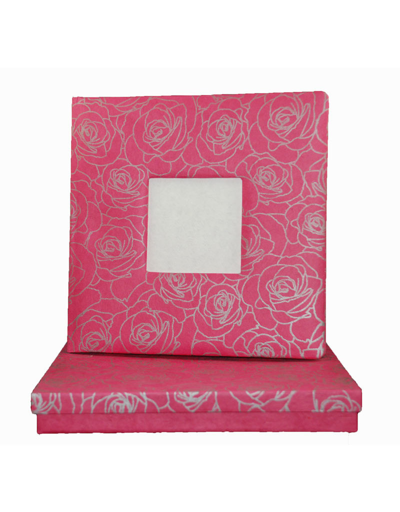 Guestbook photoframe silver roses