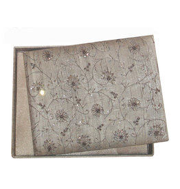 AE833 album raw silk, with embroidery.