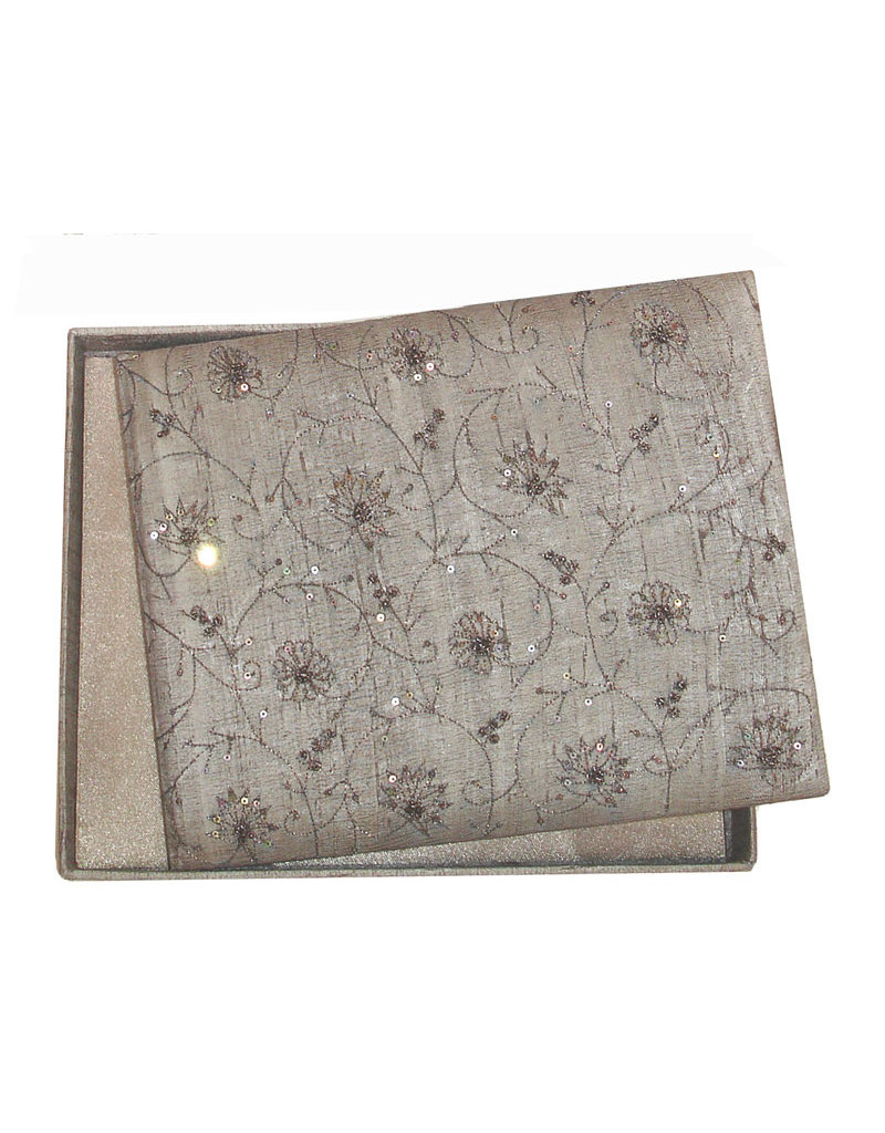 album raw silk with embroidery.