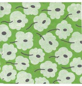 NE854  Papier Lokta avec impression graphique de fleurs