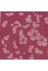 Lokta paper with japanese floral print