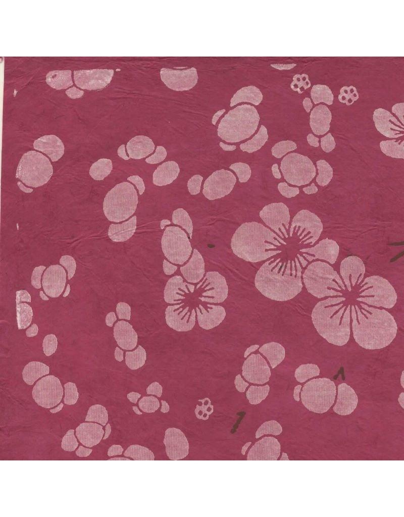Papier lokta avec imprimé floral japonais