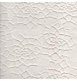 TH886 Maulbeerpapier mit großen Blüten im Relief.