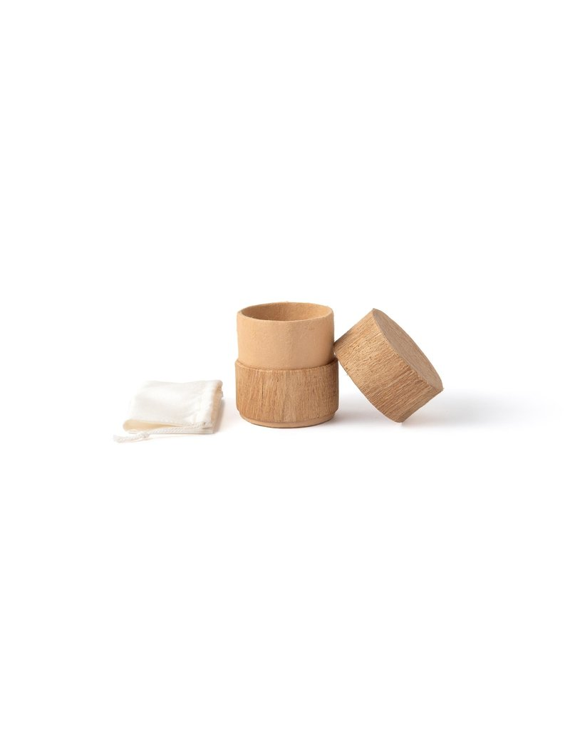 . Biodegradable urn, covered with mulberry bark