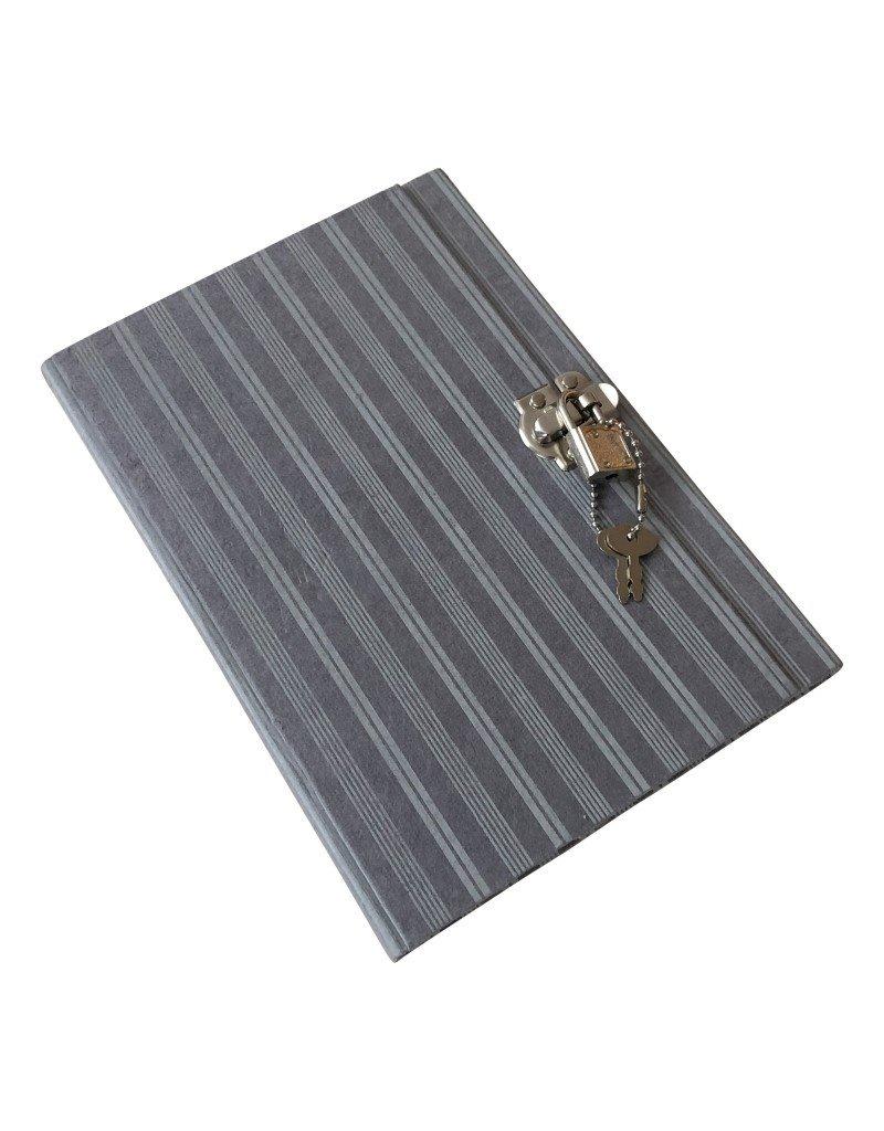 Dagboek met strepen print