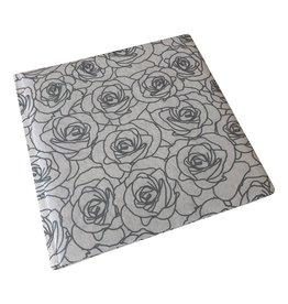 TH599 Gastenboek zilveren rozen print