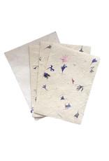 Set van 4 kaarten/enveloppen met bloemen