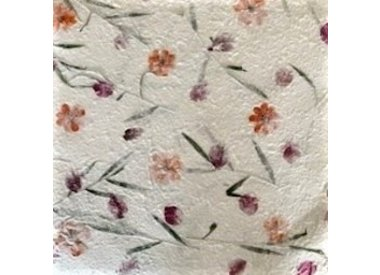 Mulberry paper with flowers or fibres