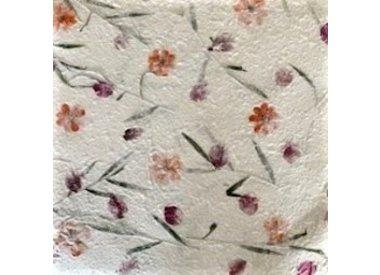 Mulberrypapier, prints, bloemen, vezels