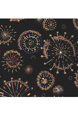Japanees paper with fireworks