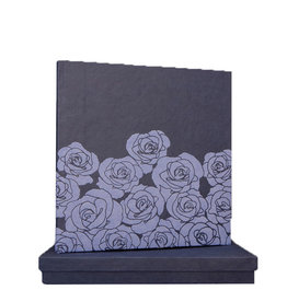 TH106 Guestbook embossed roses in box
