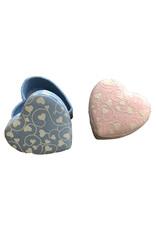 Heartshape box with hearts print set of 4