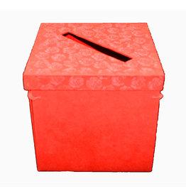TH489 Boîte de collection, pliable, avec impression en relief de roses.