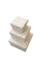Set aus 3 Schachteln Baumwollstoff