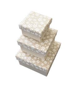 TH949 Set aus 3 Schachteln Baumwollstof